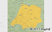Savanna Style Map of Tahe