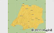 Savanna Style Map of Tahe, single color outside