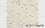 Shaded Relief Map of Tahe