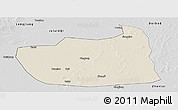 Shaded Relief Panoramic Map of Tailai, desaturated