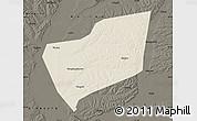 Shaded Relief Map of Wangkui, darken