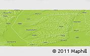 Physical Panoramic Map of Wangkui