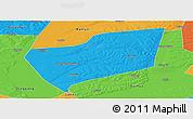 Political Panoramic Map of Wangkui