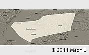 Shaded Relief Panoramic Map of Wangkui, darken