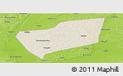 Shaded Relief Panoramic Map of Wangkui, physical outside