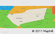 Shaded Relief Panoramic Map of Wangkui, political outside