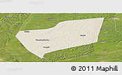 Shaded Relief Panoramic Map of Wangkui, satellite outside
