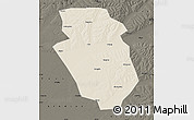 Shaded Relief Map of Yi An, darken