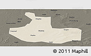 Shaded Relief Panoramic Map of Zhaozhou, darken