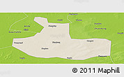 Shaded Relief Panoramic Map of Zhaozhou, physical outside