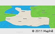Shaded Relief Panoramic Map of Zhaozhou, political outside