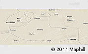 Shaded Relief Panoramic Map of Zhaozhou