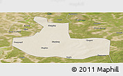 Shaded Relief Panoramic Map of Zhaozhou, satellite outside