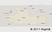 Shaded Relief Panoramic Map of Zhaozhou, semi-desaturated