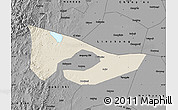 Shaded Relief Map of Anyang, darken, desaturated