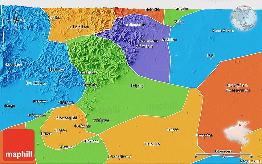 China Map: Virtual Tour Maps of Beijing, Shanghai, Xian ... |Xian East Asia Map