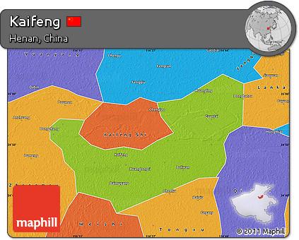 Free Physical Map of Kaifeng, political outside on chengdu china on world map, guangzhou china on world map, shenzhen china on world map, macau china on world map, hangzhou china on world map, tangshan china on world map, shanghai china on world map, nanjing china on world map,