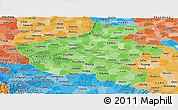 Political Shades Panoramic Map of Henan