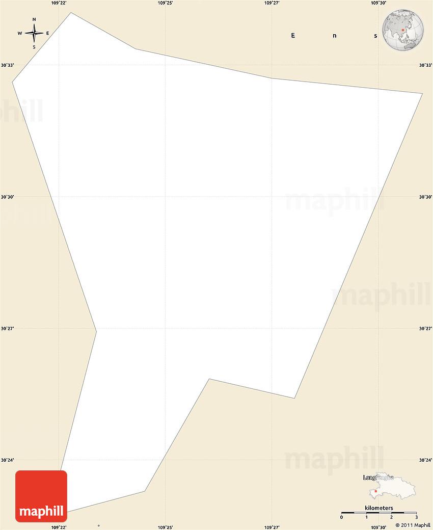 Classic Style Simple Map Of Enshi Shi - Enshi map