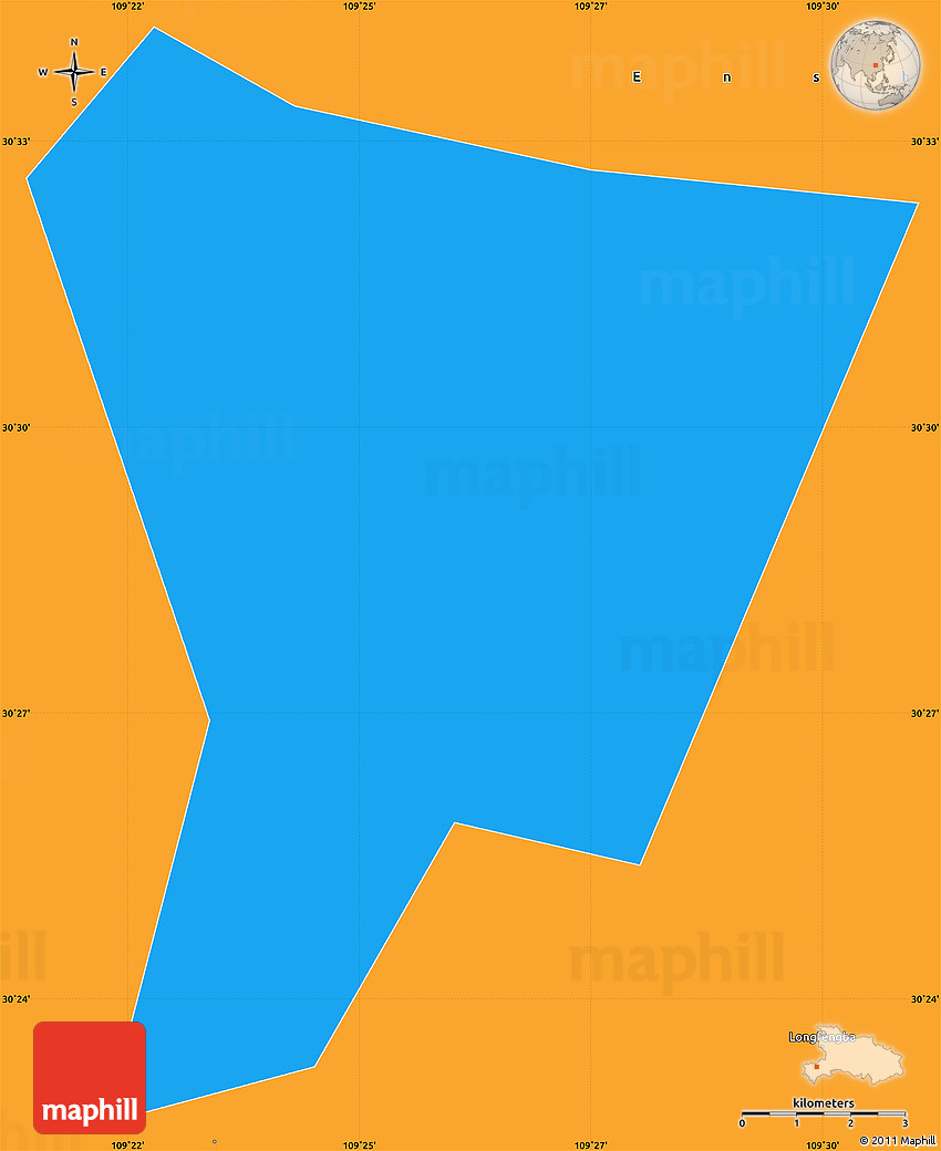Political Simple Map Of Enshi Shi - Enshi map