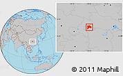 Blank Location Map Of Enshi - Enshi map