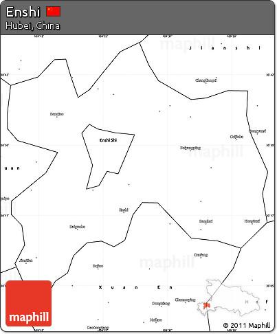 Free Blank Simple Map Of Enshi - Enshi map