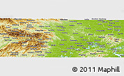 Physical Panoramic Map of Hubei