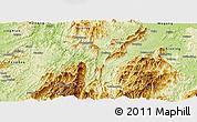 Physical Panoramic Map of Chengbu