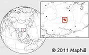 Blank Location Map of Dao Xian