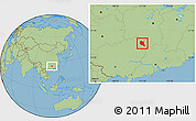Savanna Style Location Map of Dao Xian