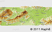 Physical Panoramic Map of Jiangyong