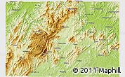 Physical 3D Map of Longhui