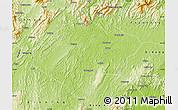 Physical Map of Shaoyang