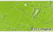 Physical 3D Map of Wangcheng