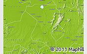 Physical Map of Wangcheng