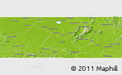 Physical Panoramic Map of Wangcheng