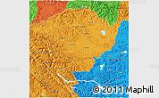 Political 3D Map of Jammu and Kashmir
