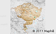 Satellite 3D Map of Jammu and Kashmir, physical outside