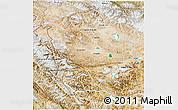 Satellite 3D Map of Jammu and Kashmir