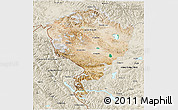 Satellite 3D Map of Jammu and Kashmir, shaded relief outside
