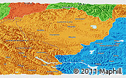 Political Panoramic Map of Jammu and Kashmir