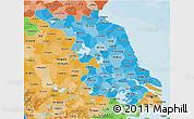 Political Shades 3D Map of Jiangsu
