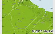 Physical Map of Guanyun
