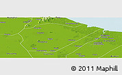 Physical Panoramic Map of Guanyun
