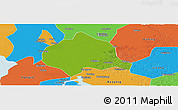 Physical Panoramic Map Of Huaian Political Outside - Huaian map