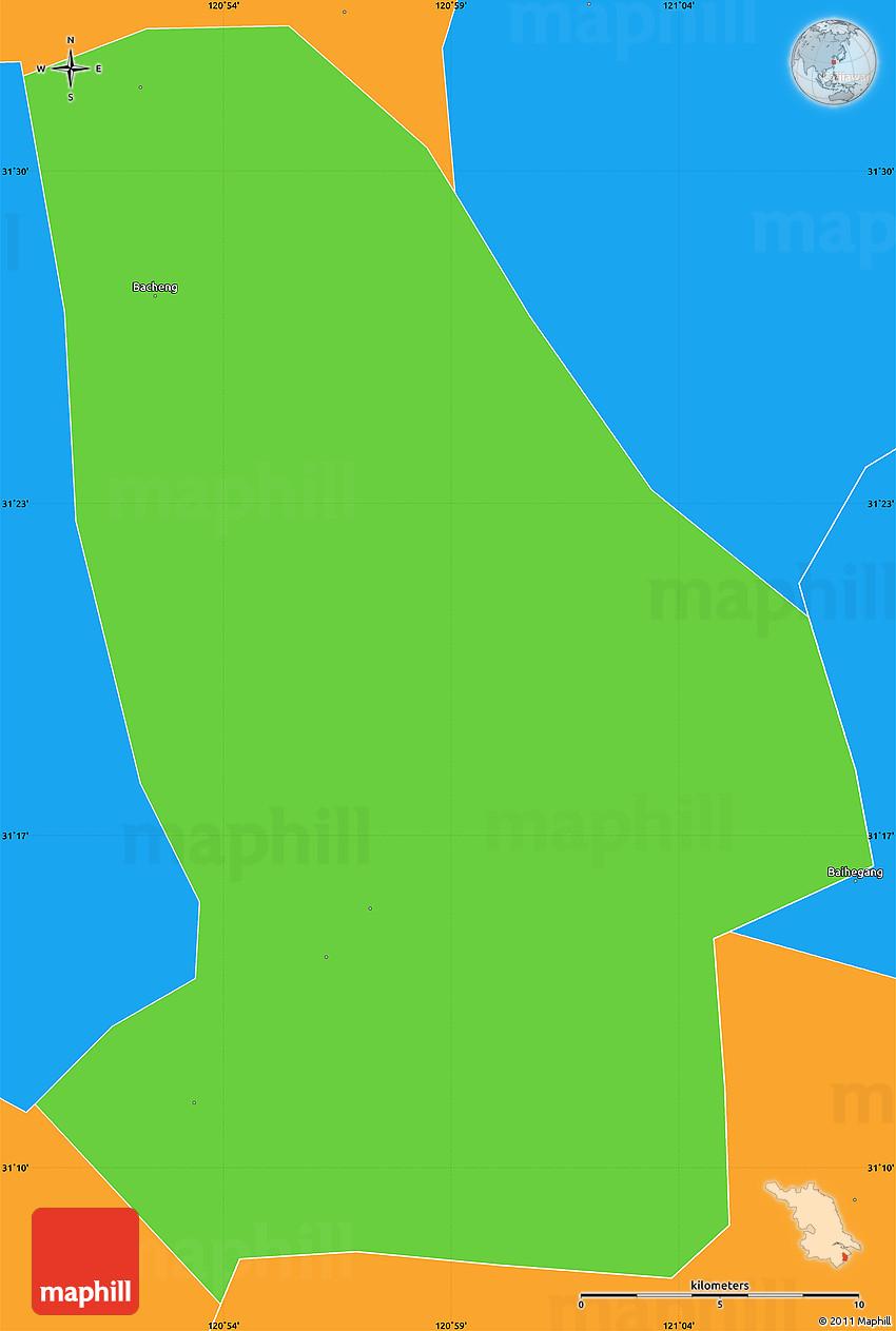 Kunshan China Map.Political Simple Map Of Kunshan