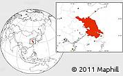 Blank Location Map of Jiangsu