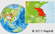 Physical Location Map of Jiangsu