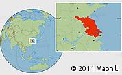 Savanna Style Location Map of Jiangsu