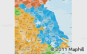 Political Shades Map of Jiangsu